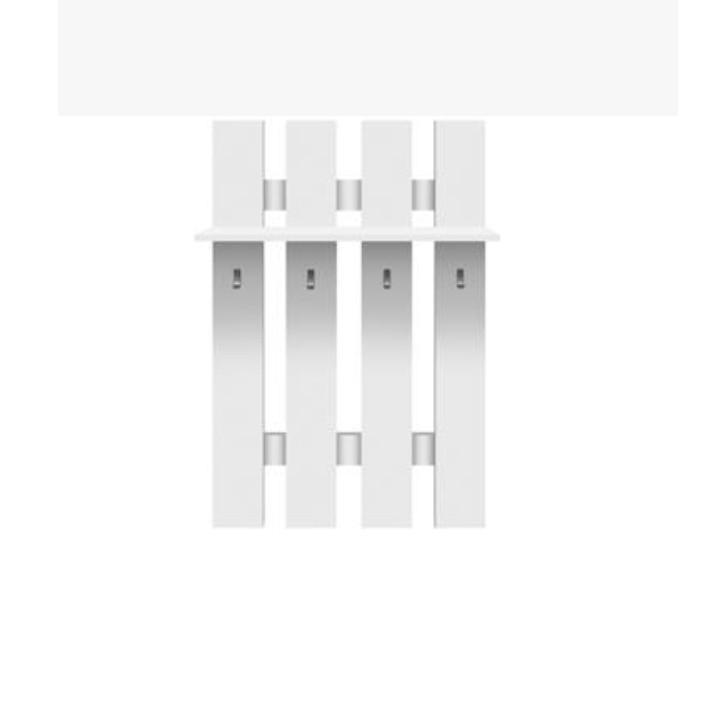 Vešiaková stena, DTD laminovaná, biela TOPTY