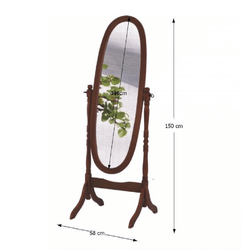 Stojanové zrcadlo, ořech, ZRCADLO 20124