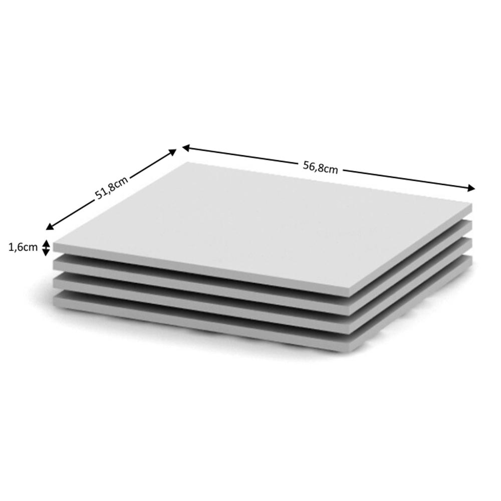 BETTY 2 BE02-012-00 4 db polc a szekrénybe, fehér