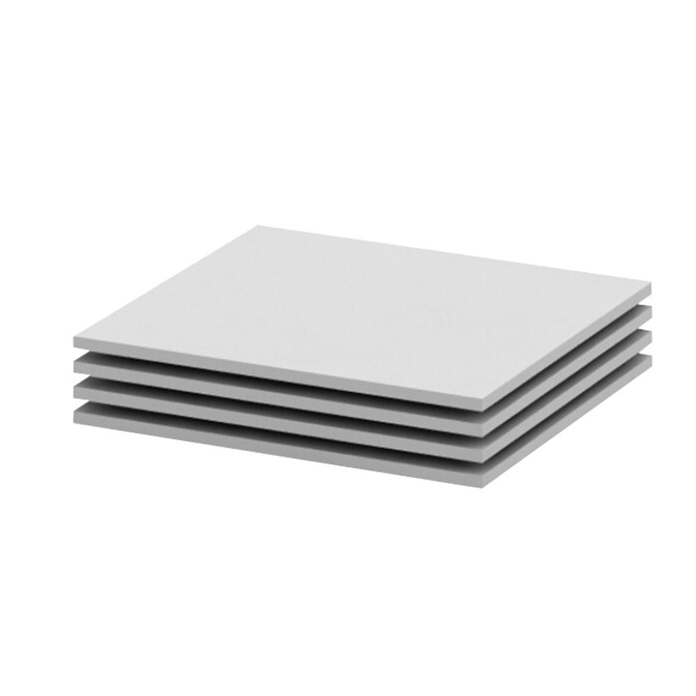 Rafturi 4 buc, albe, 56,8x51,8, BETTY 2 BE02-012-00