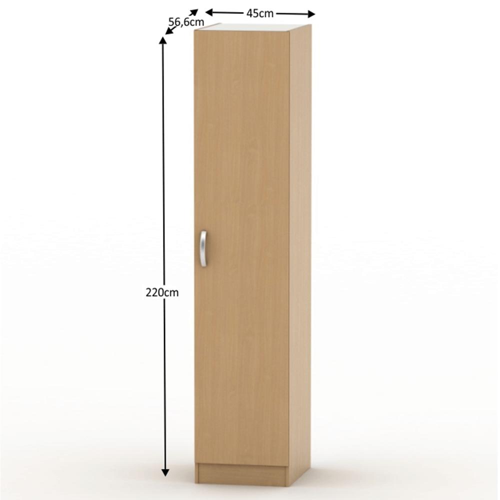 BETTY 2 BE02-006-00 1 ajtós szekrény, akasztós, bükk