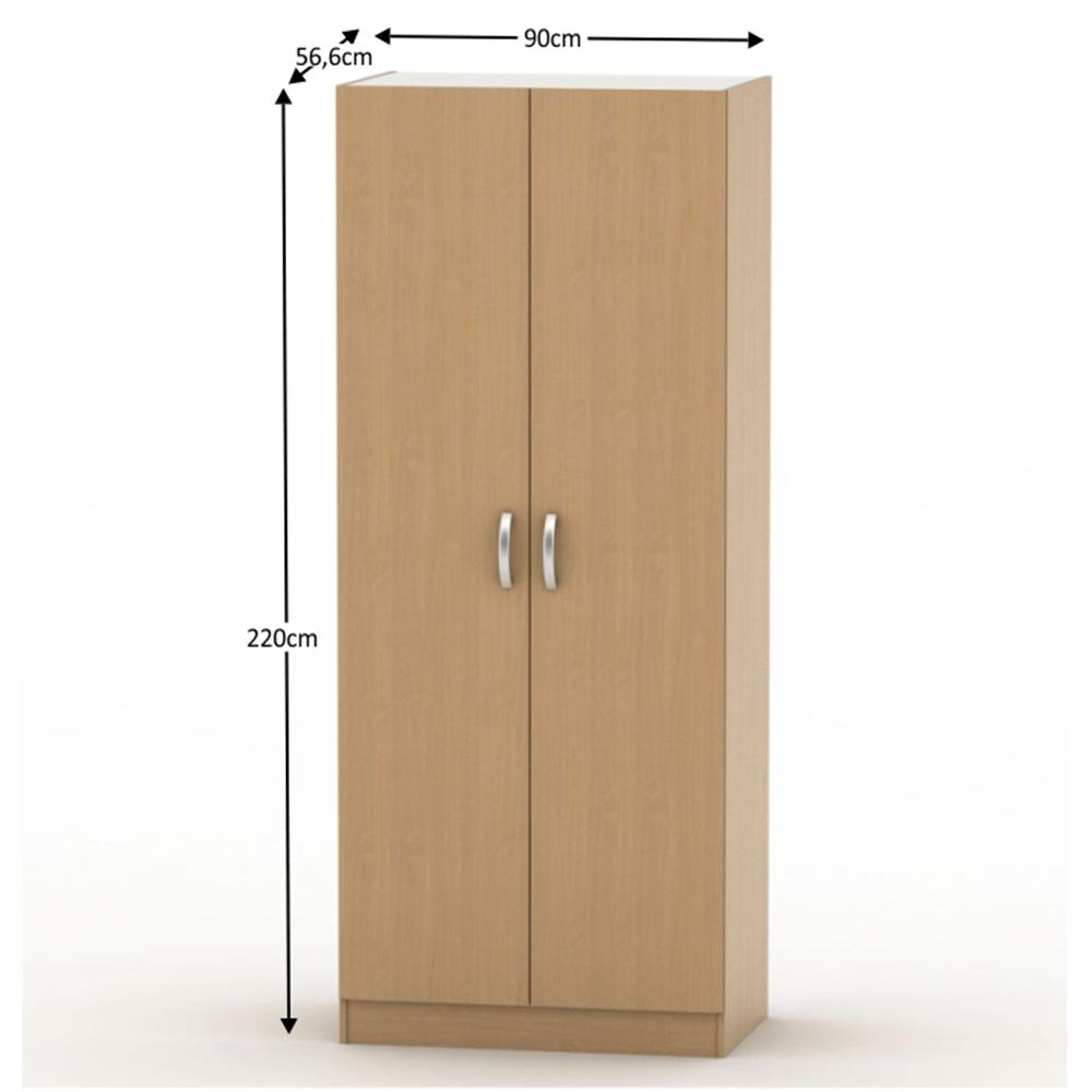 2-dveřová skříň, buk, BETTY 2