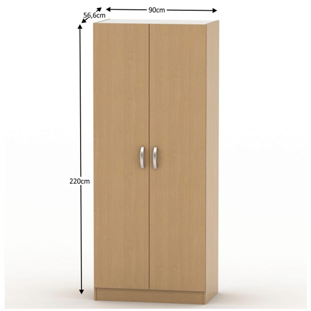 2-dveřová skříň, věšáková, poličková, buk, BETTY 2