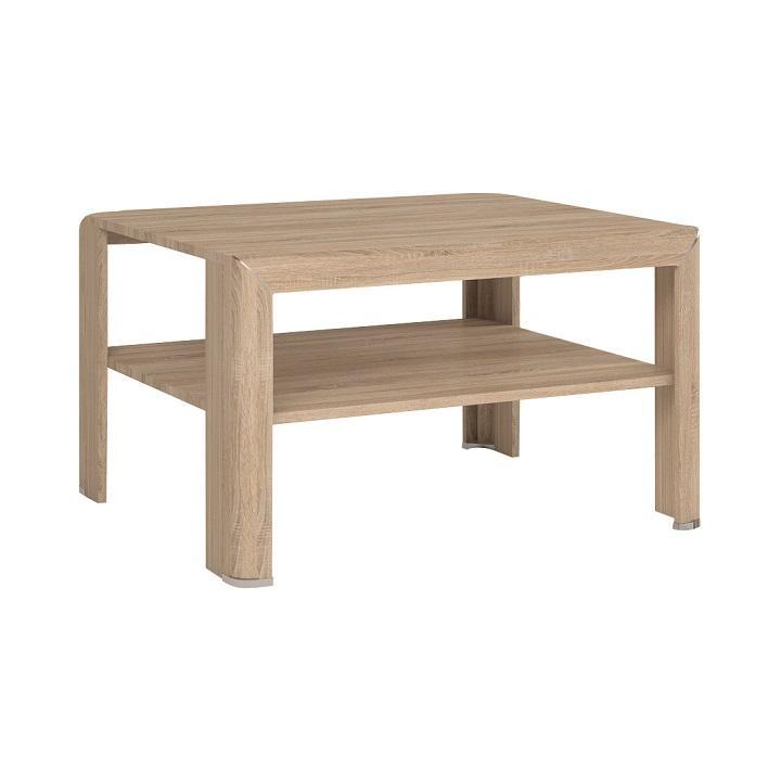Dohányzóasztal, DTD laminált,sonoma tölgyfa, KLEON