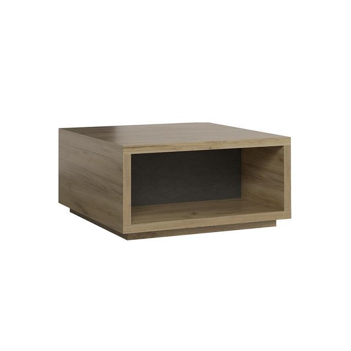 Konferenčný stolík, DTD laminovaná, dub kraft/sivá, KREFT