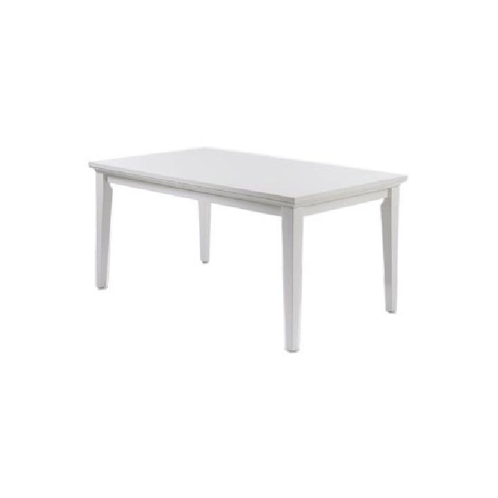 Étkezőasztal,DTD fóliázott + MDF festett, fehér, PARIS