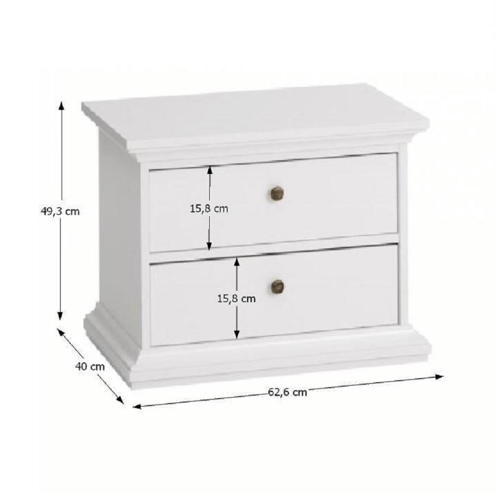 Noční stolek, bílá, PARIS 70301, TEMPO KONDELA