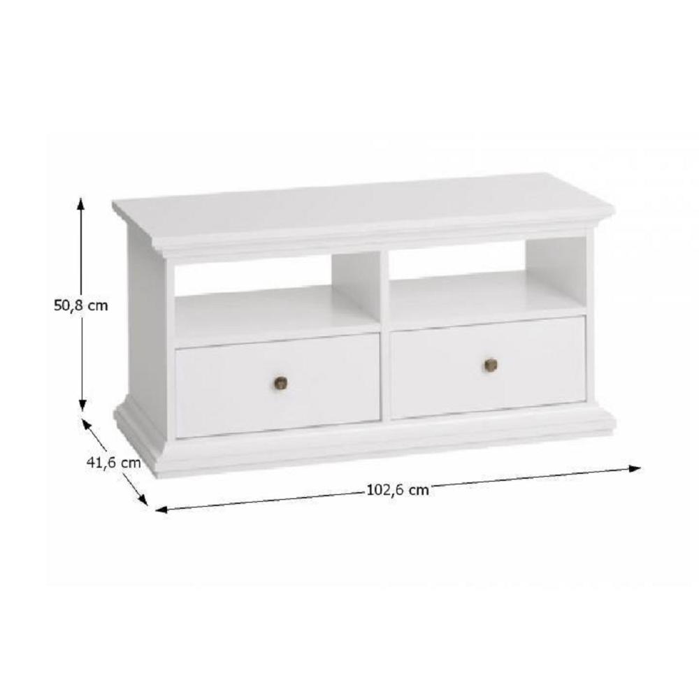 RTV asztal, DTD fóliázott/MDF festett, fehér, PARIS