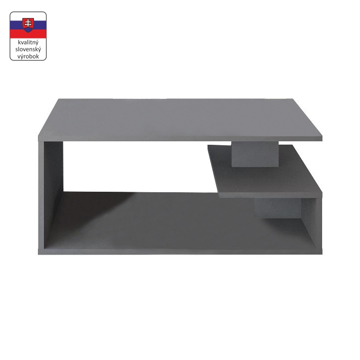 Konferenčný stolík, sivá grafit, MARSIE M11