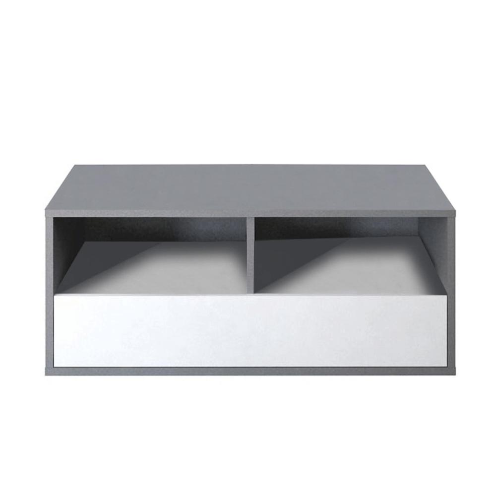 RTV asztal, DTD laminált, szürke grafit/fehér, MARSIE