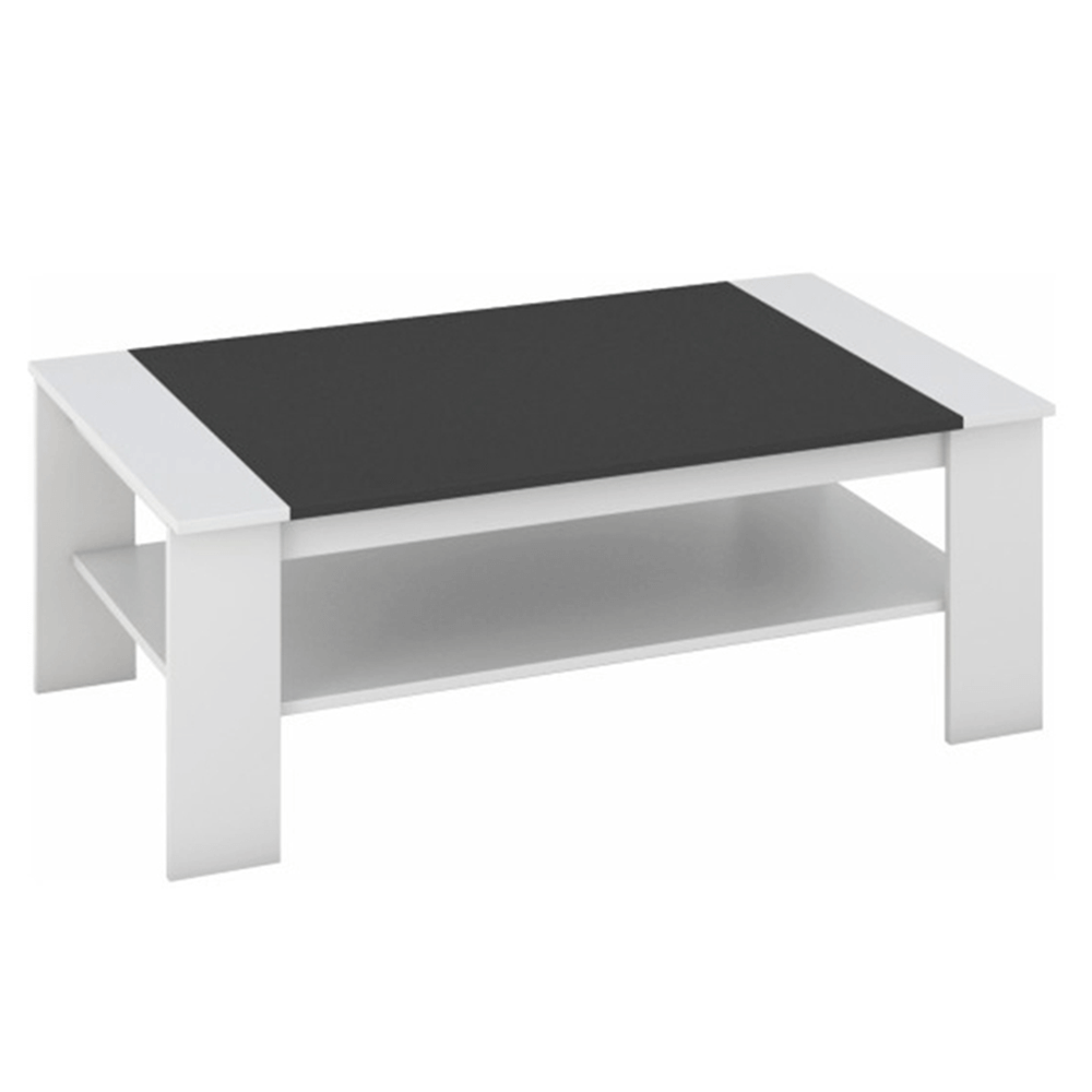 Konferenční stolek, bílá / černá, BAKER, TEMPO KONDELA