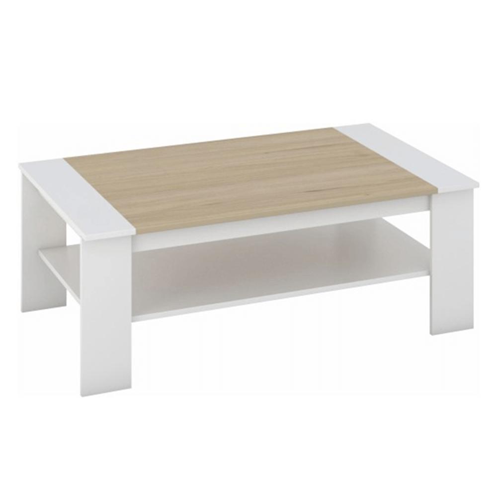 BAKER - konferenční stolek, bílá / dub sonoma, TEMPO KONDELA
