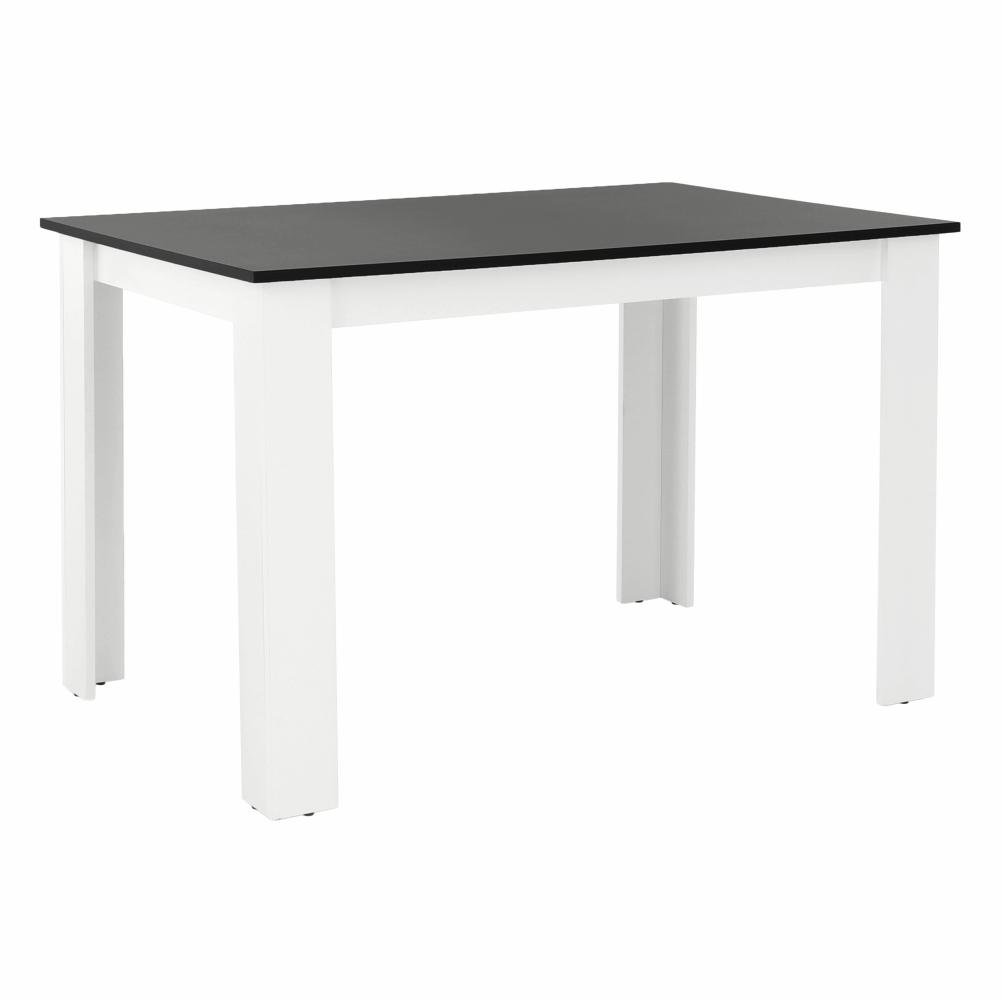 Jídelní stůl, bílá / černá, 120x80, KRAZ, TEMPO KONDELA