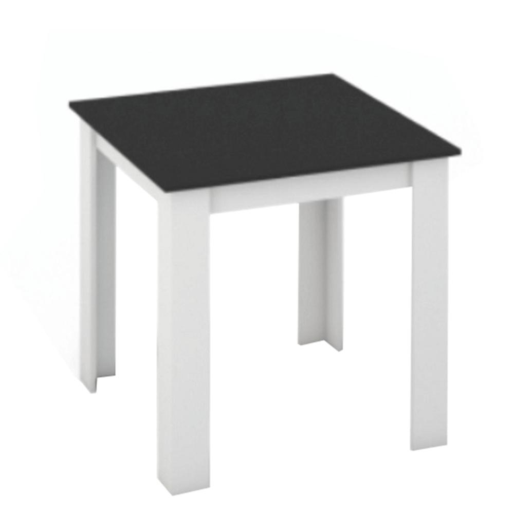 Jídelní stůl, bílá / černá, 80x80, KRAZ, TEMPO KONDELA