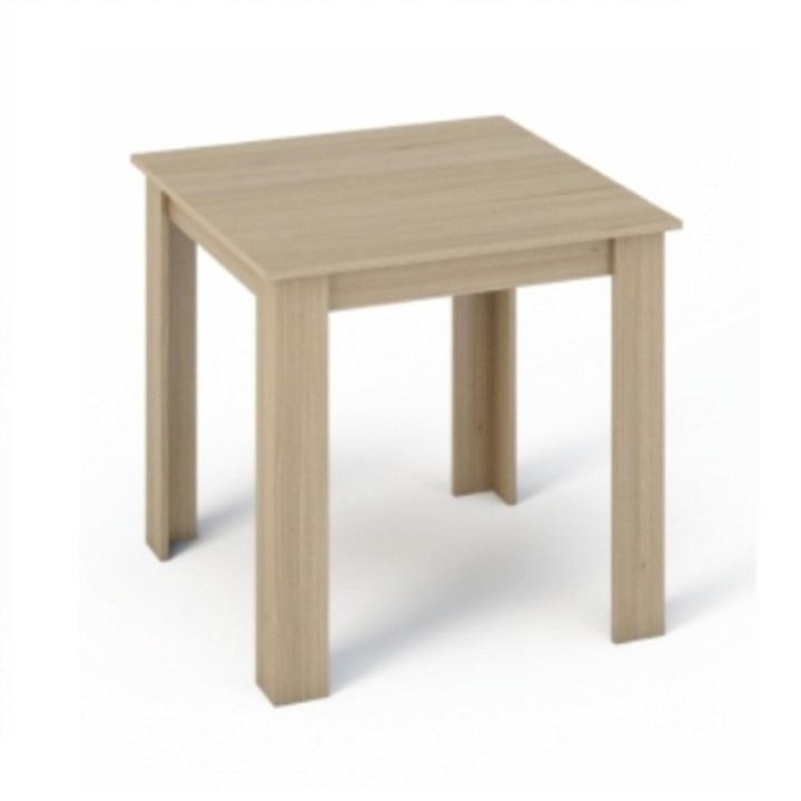 Étkezőasztal 80x80, DTD laminált, ABS élek, sonoma tölgyfa, KRAZ