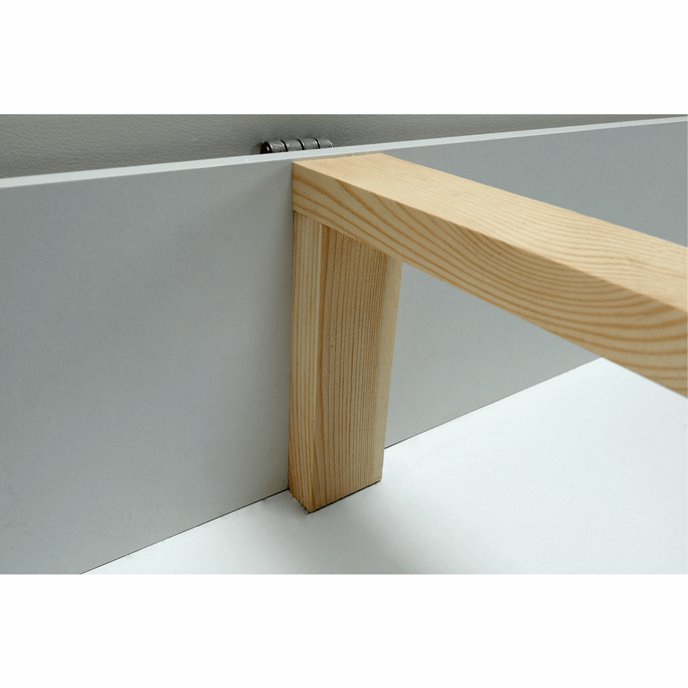 Sedací souprava s úložným prostorem, univerzální, ekokůže bílá / látka Berlin 01 šedý melír, TONIKS, TEMPO KONDELA