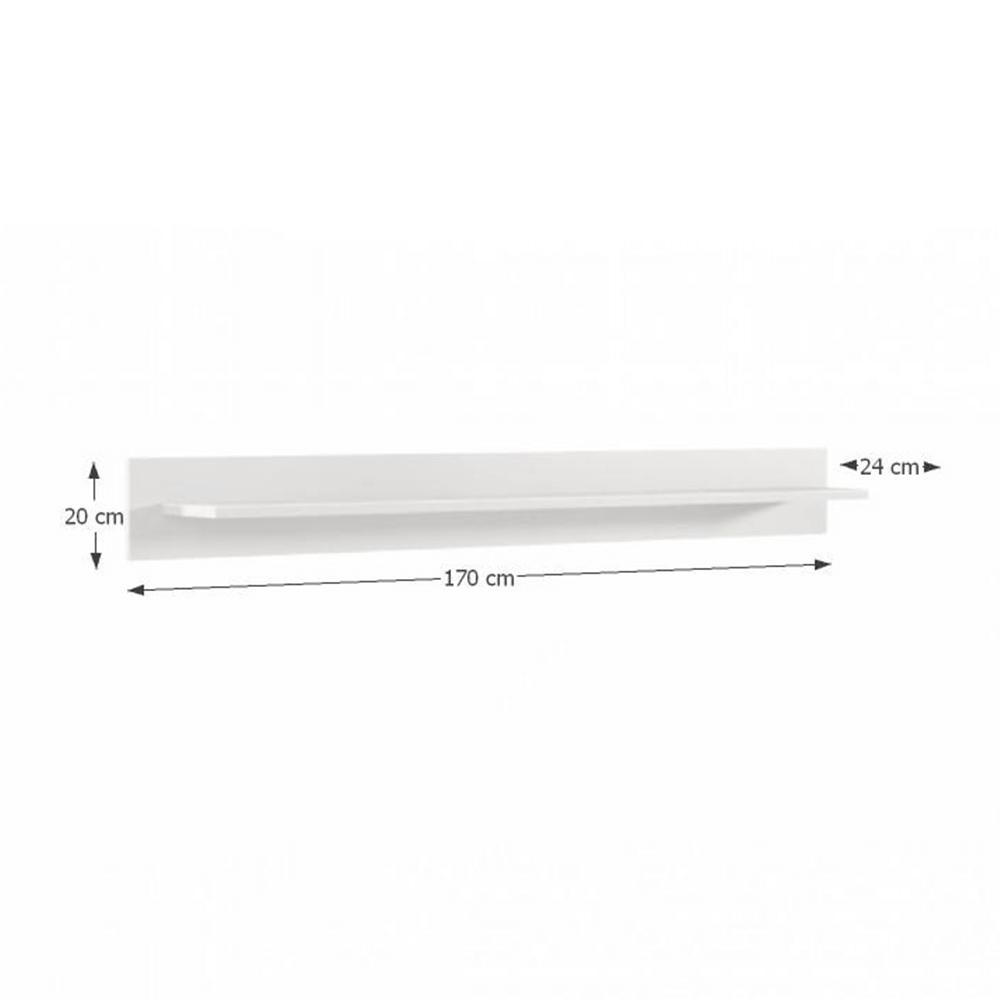 Polc, fehér extra magas fényű HG, ADONIS AS 05