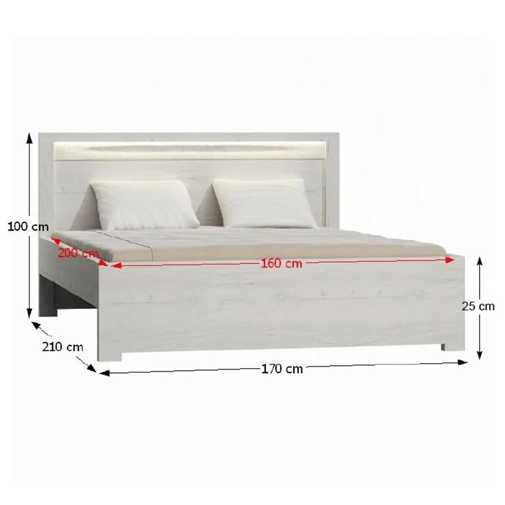 Postel, jasan bílý, 160x200, INFINITY I-19, TEMPO KONDELA