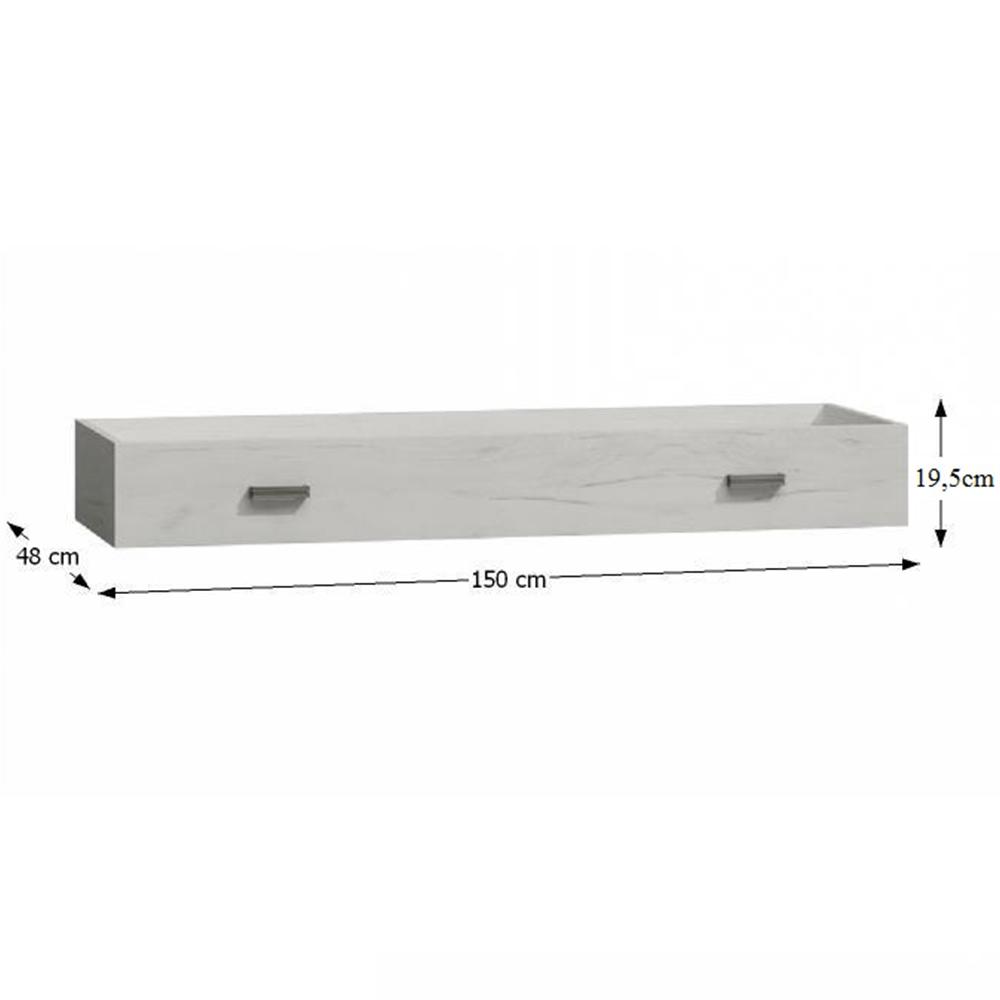 Úložný prostor, jasan bílý, INFINITY I-25, TEMPO KONDELA