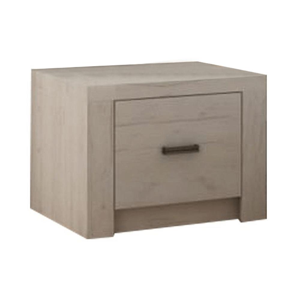 Noční stolek, jasan bílý, INFINITY I-24, TEMPO KONDELA