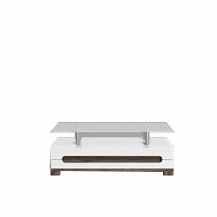 Konferenčný stolík, san remo/biely vysoký lesk, LORIEN LS 90