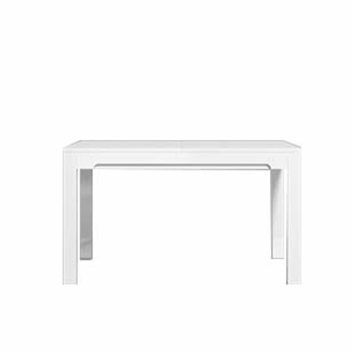 Meghosszabbítható étkezőasztal, san remo/fehér- extra magas fényű, LORIEN LS 88