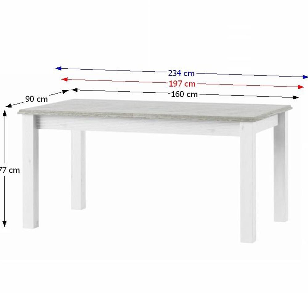 Meghosszabbítható étkezőasztal, fehér, LIONA LM88