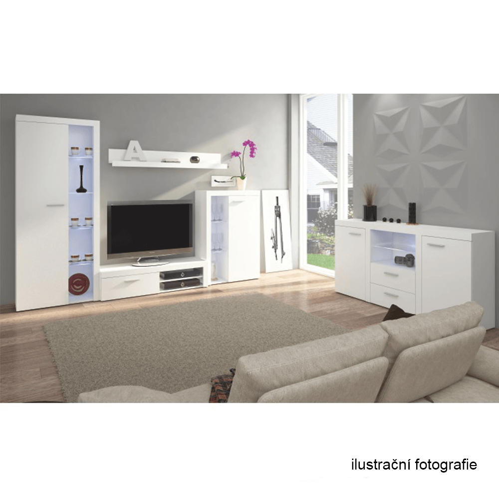 ROCHESTER - Obývací stěna, bílá, TEMPO KONDELA
