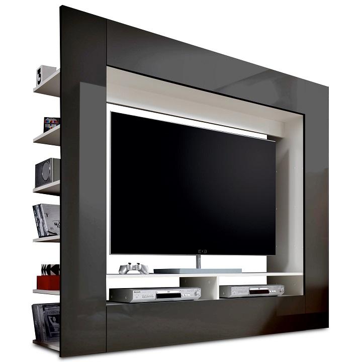 Luxus TV és média fal,fekete extra magas fényű HG, MEDI TV