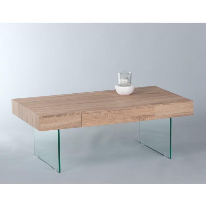 Konferenčný stolík so zásuvkou, dub sonoma, DAISY