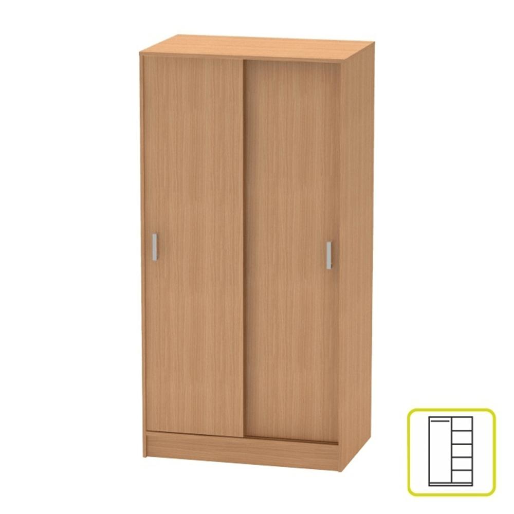 2 ajtós szekrény tolóajtóval, bükk, BETTY 4 BE04-002-00