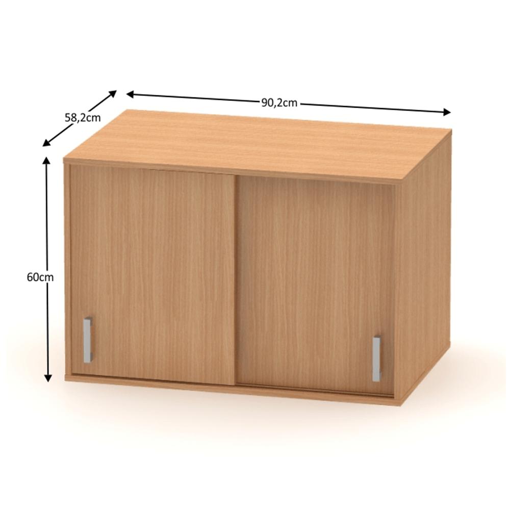 BETTY 4 BE04-004-00 2 ajtós felső szekrény tolóajtóval, bükk