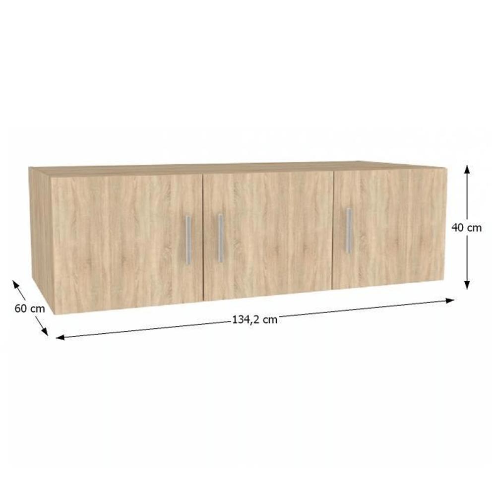 Nástavec na skříň, dub sonoma, INVITA TYP 7, TEMPO KONDELA
