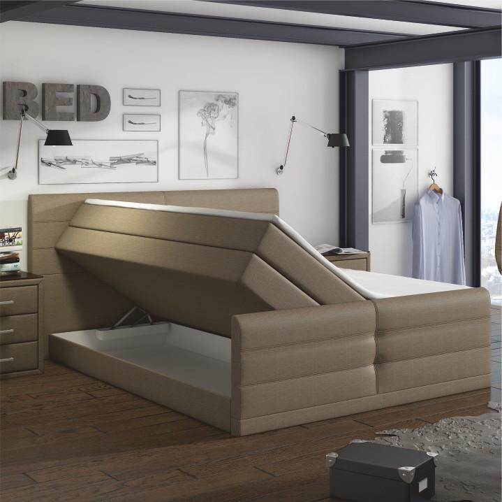 poste l tka inari 23 svetlohned typ boxpring 180x200 samreno megakomfort visco tempo kondela. Black Bedroom Furniture Sets. Home Design Ideas