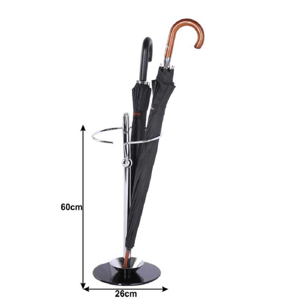 Suport pentru umbrele Oldo Crom/Negru