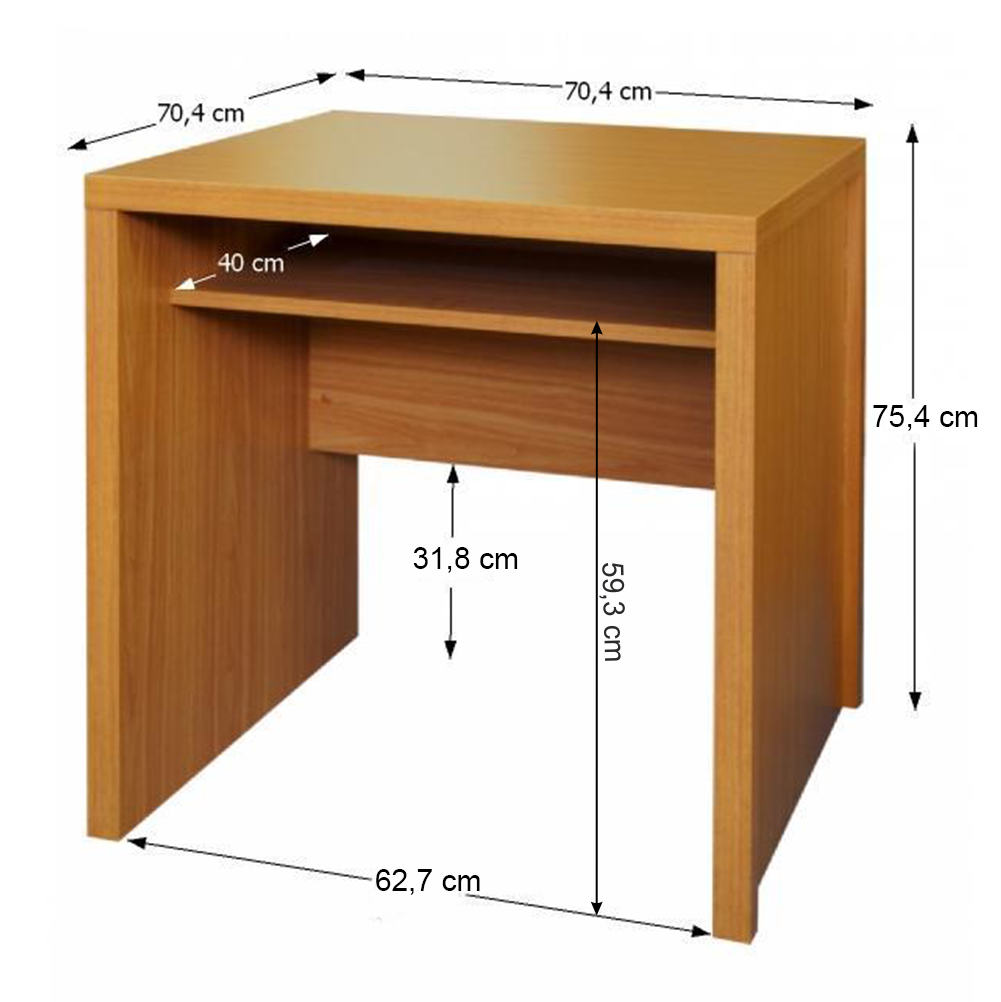 Písací stôl, čerešňa americká, OSCAR T04