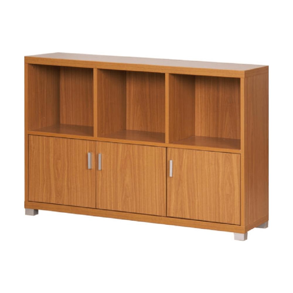 Alacsony szekrény 3 alsó ajtóval, amerikai cseresznye, OSCAR C04