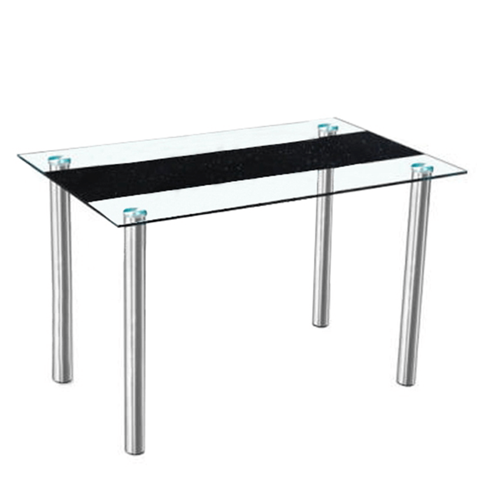 Masă dining, oțel/sticlă, ESTER