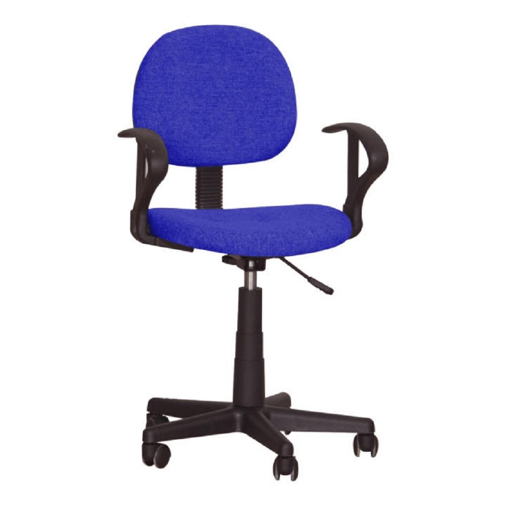 Kancelárska stolička, modrá, TC3-227