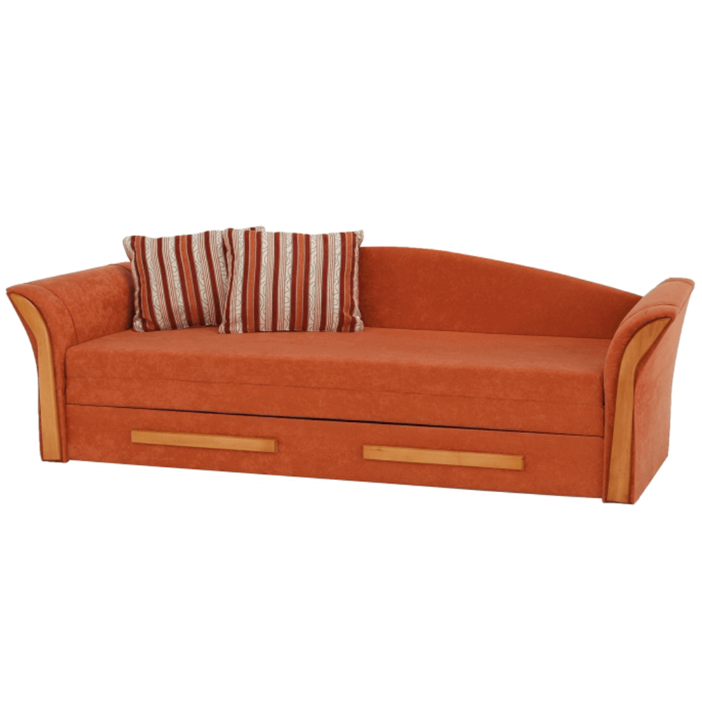 Colţar, textil portocaliu/arin, PATRYK
