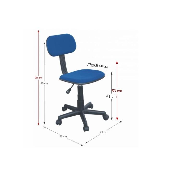 TEMPO KONDELA Detská stolička, modrá, TC3-802P - Tempo nábytek