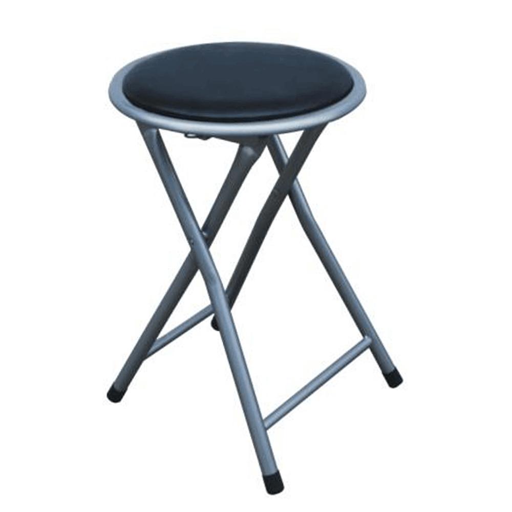 Skládací taburet / stolička, černá, IRMA, TEMPO KONDELA