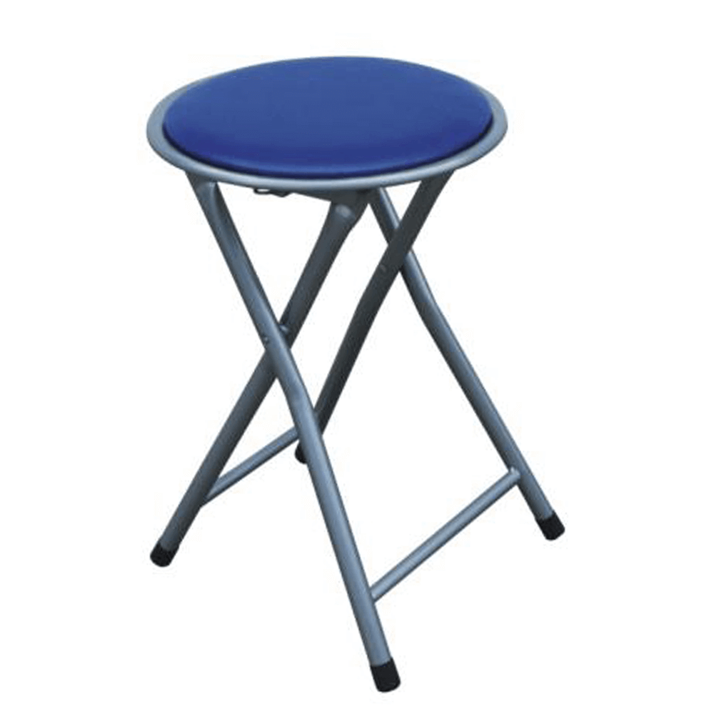 Taburet pliabil/scaun, albastru, IRMA