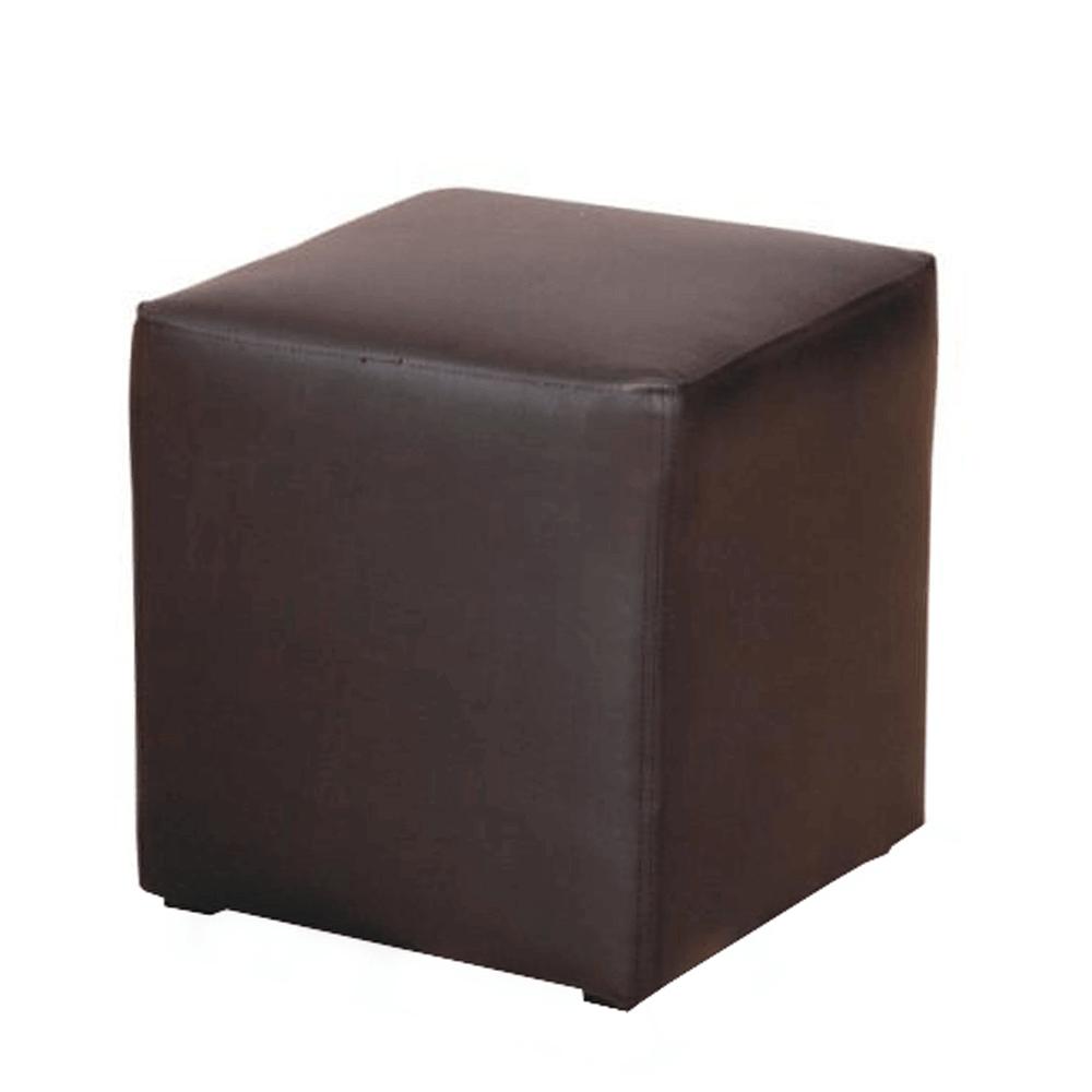 Taburetka, ekokůže černá, KUBIK