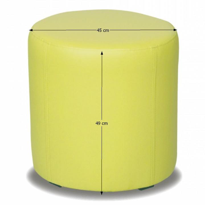 TEMPO KONDELA Taburet, ekokoža zelená, TOP 45 - Tempo nábytek