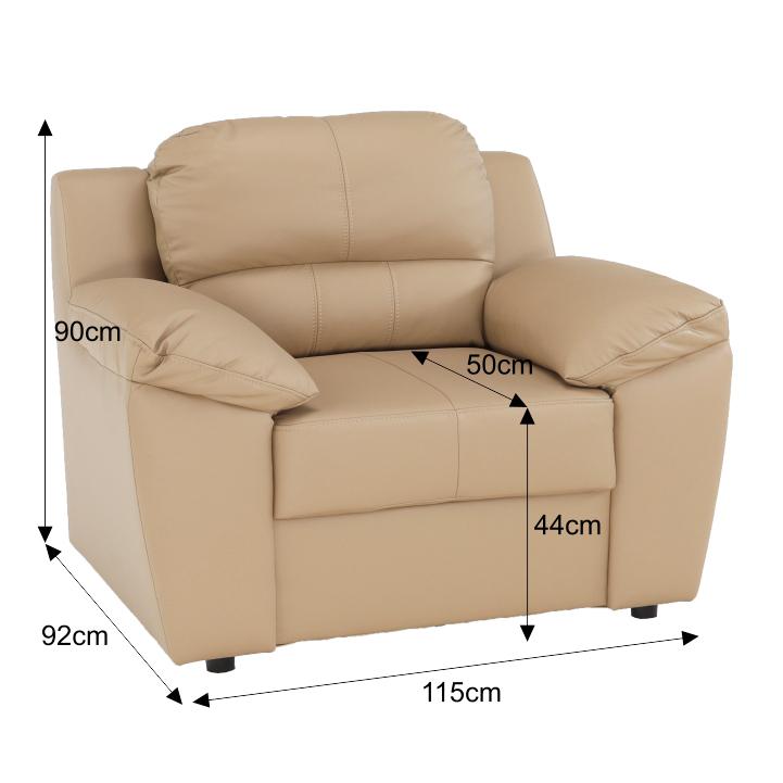 Fotel, bőr + műbőr karamell, VACO