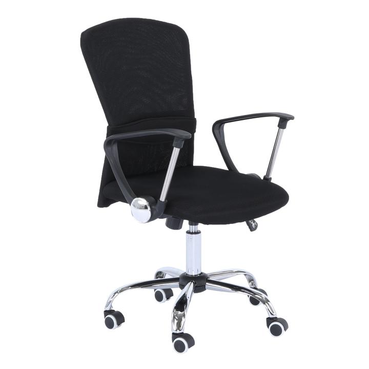 Irodai szék, fekete ülés, háttámla, fekete, AEX