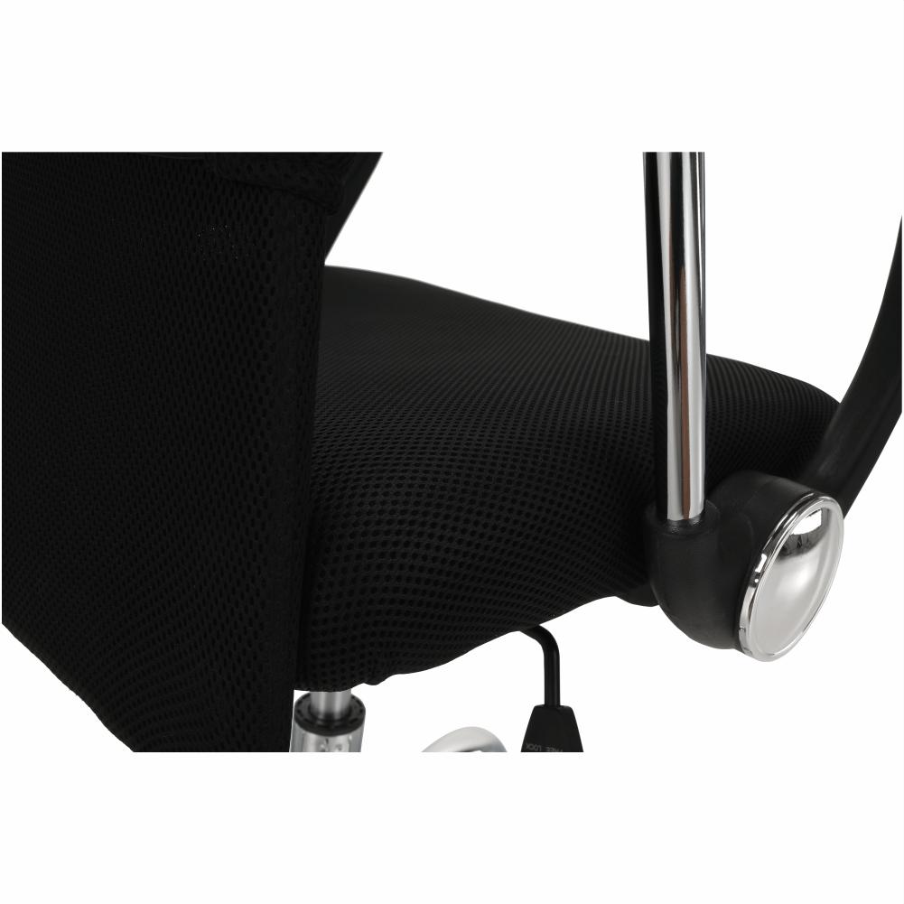 Kancelářské křeslo s černým sedákem, černá opěrka, AEX