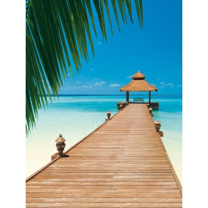 TEMPO KONDELA Fototapeta, 4 časti, pláž v karibiku