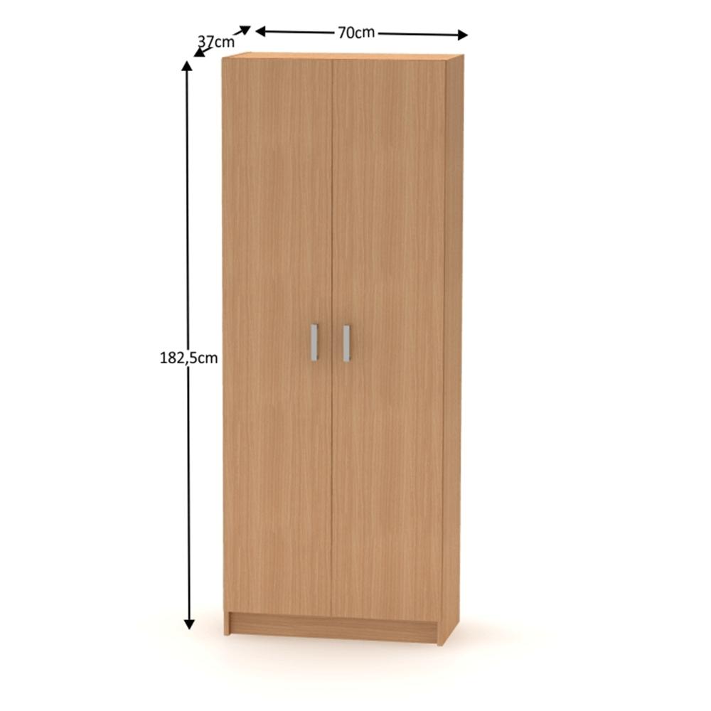 BETTY 7 BE07-004-00 2 ajtós polcos szekrény, bükk